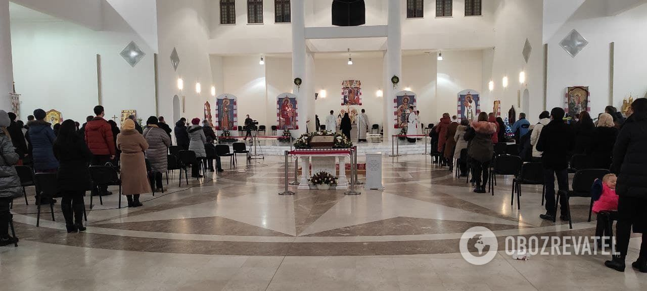 Рождественское богослужение в Патриаршем соборе Воскресения Христова УГКЦ.