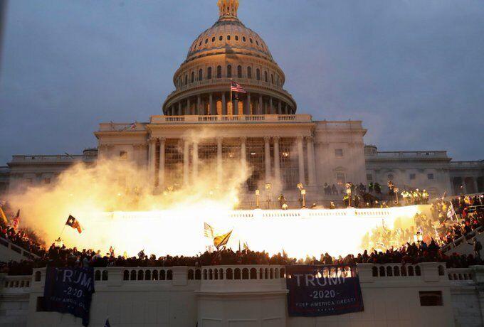 Вспышка под зданием Конгресса