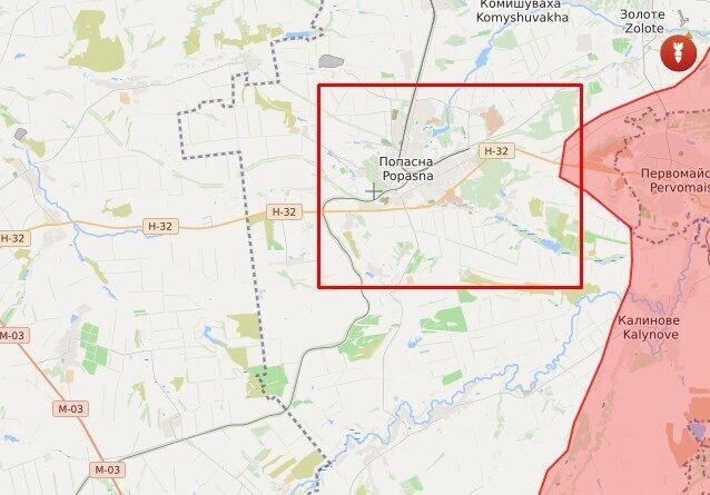 Терористи відкривали вогонь в напрямку ЗСУ в районі Попасній