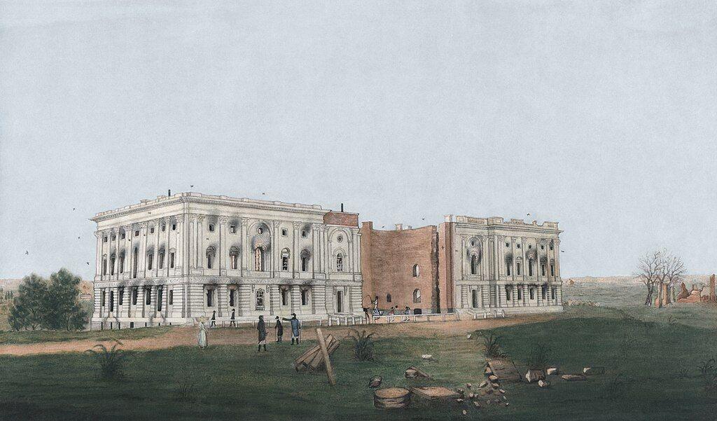 Капитолий после сожжения в 1814 году.