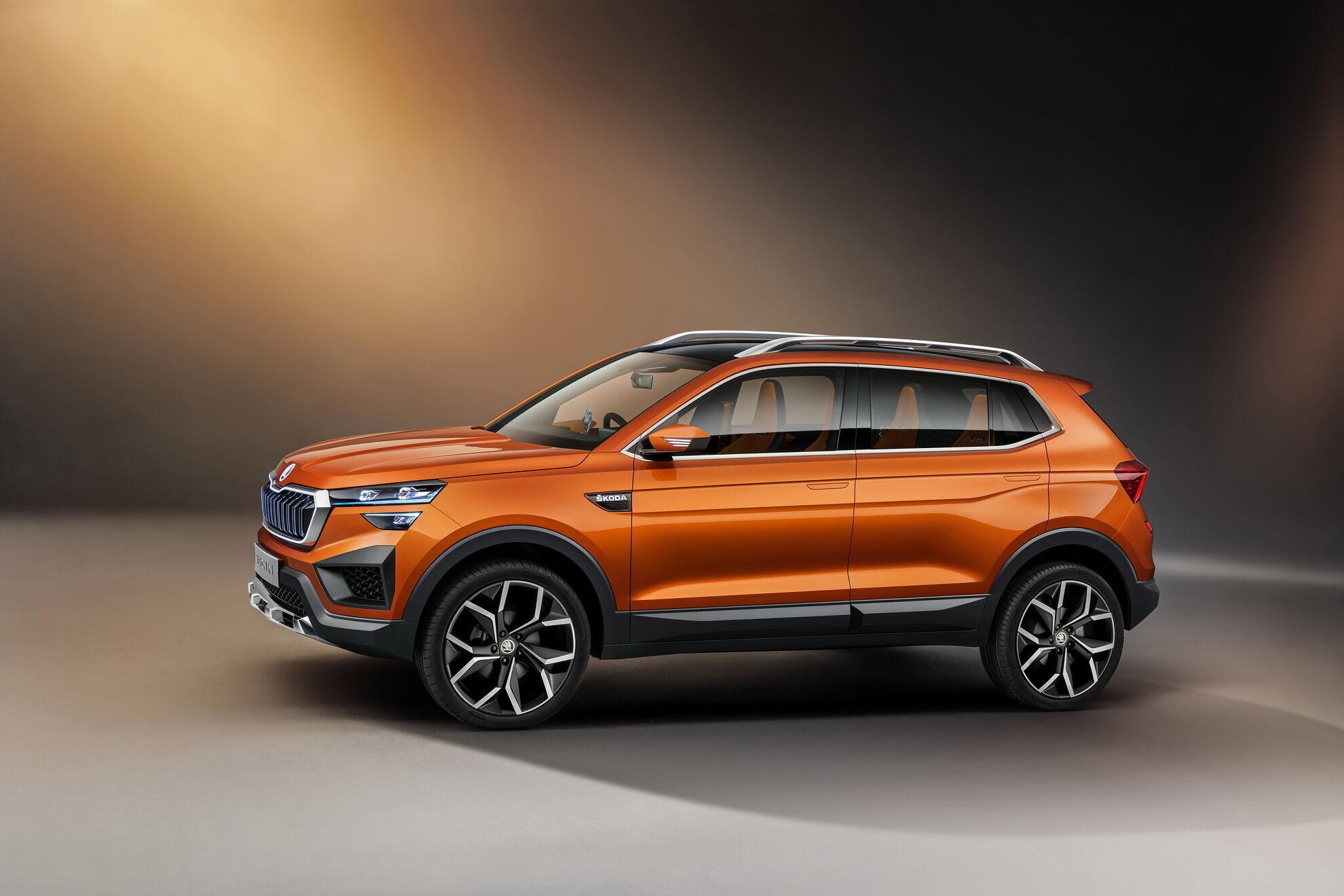 Прообразом для модели Kushaq послужил концепт Skoda Vision IN, который представили в 2020 году на автошоу в Индии