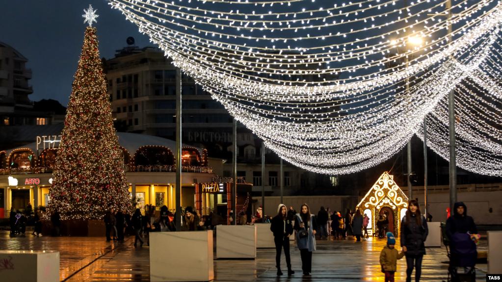 Набережная Ялты, декабрь 2020 года