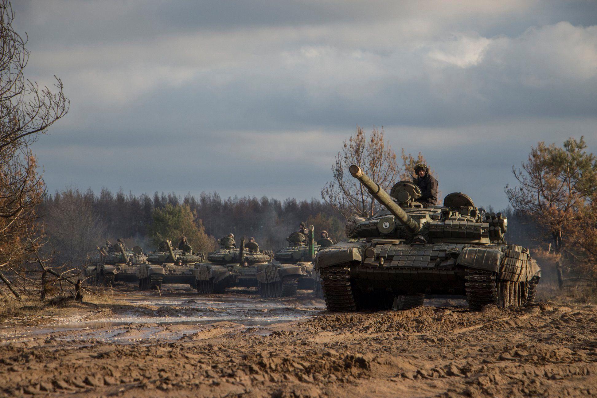 У зоні ООС провели навчання на танках