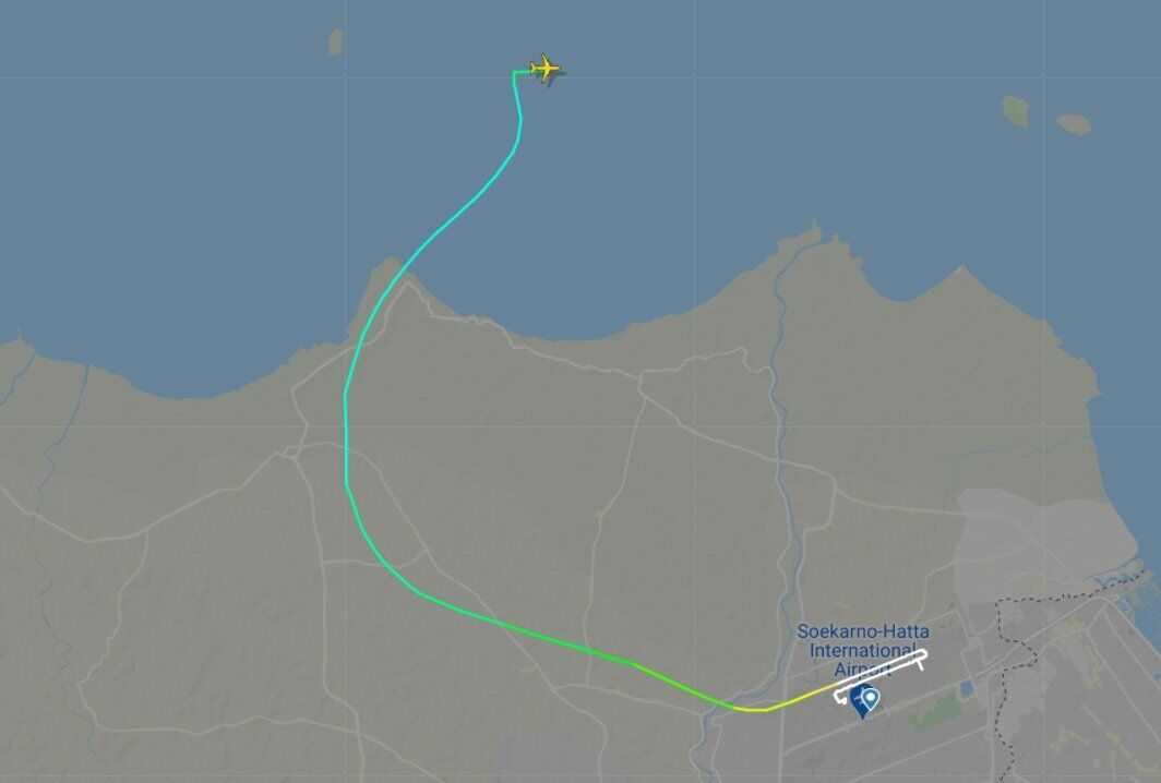Відстеження літака припинилося незабаром після зльоту