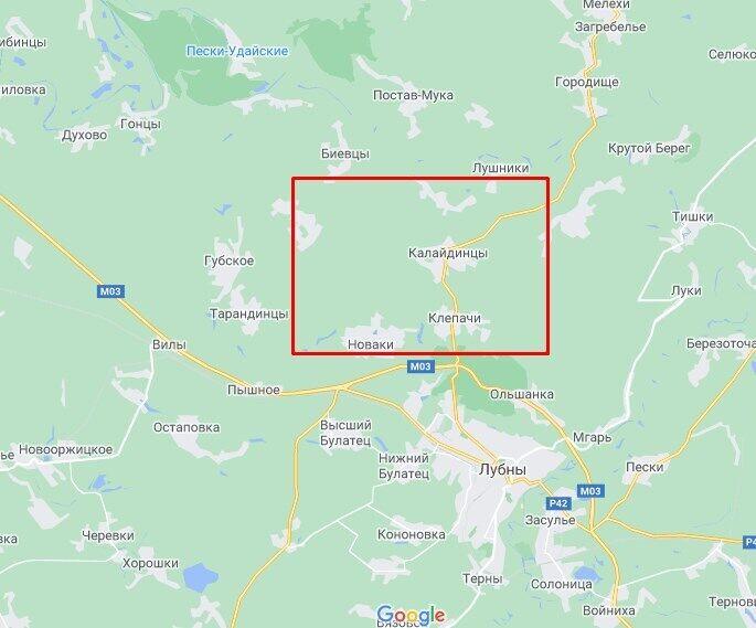 Вибух газопроводу стався біля міста Лубни.