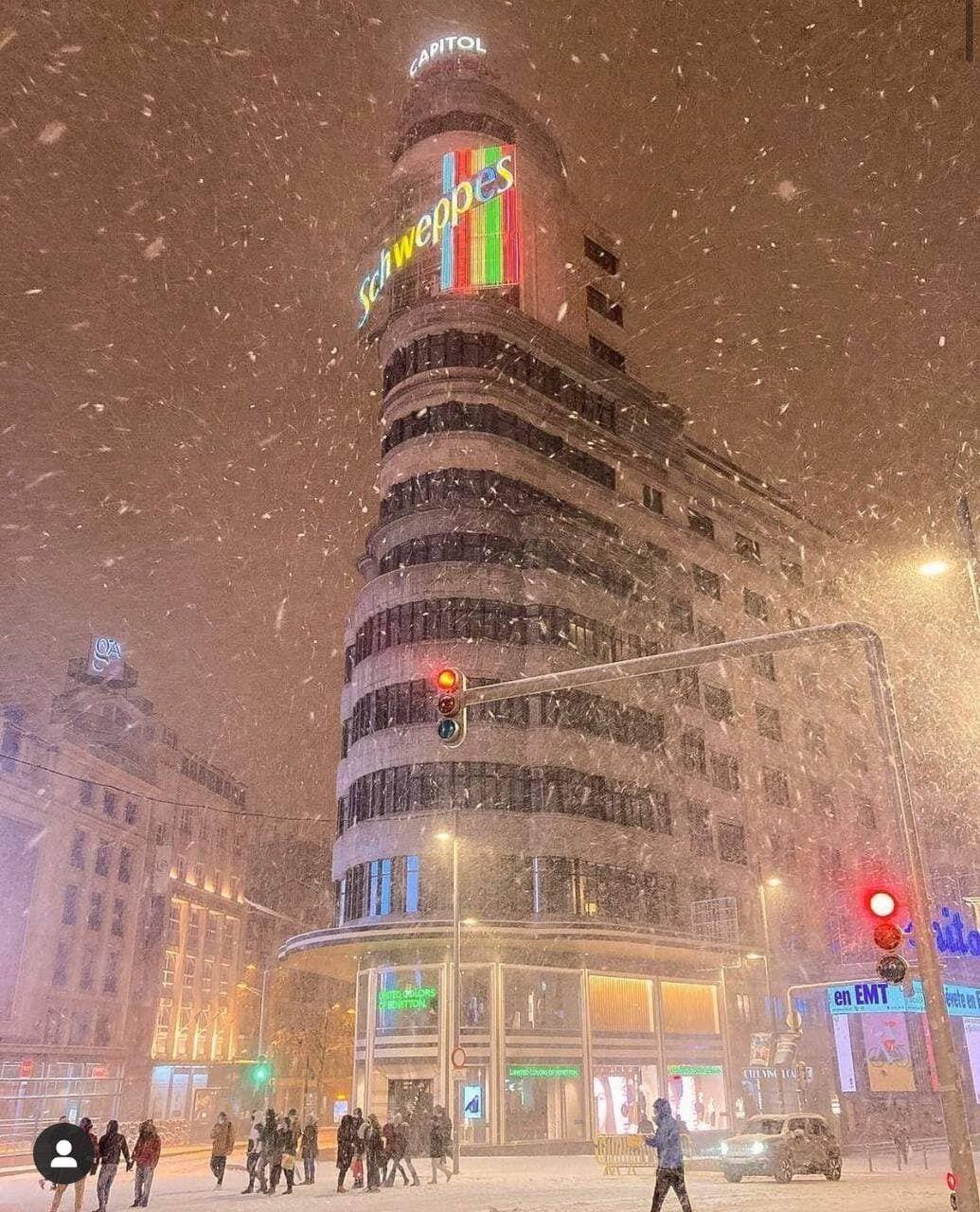 Снігопад у Мадриді