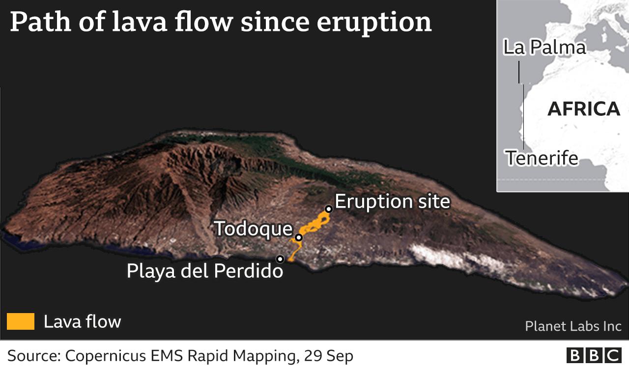 Лава досягла океану 28 вересня
