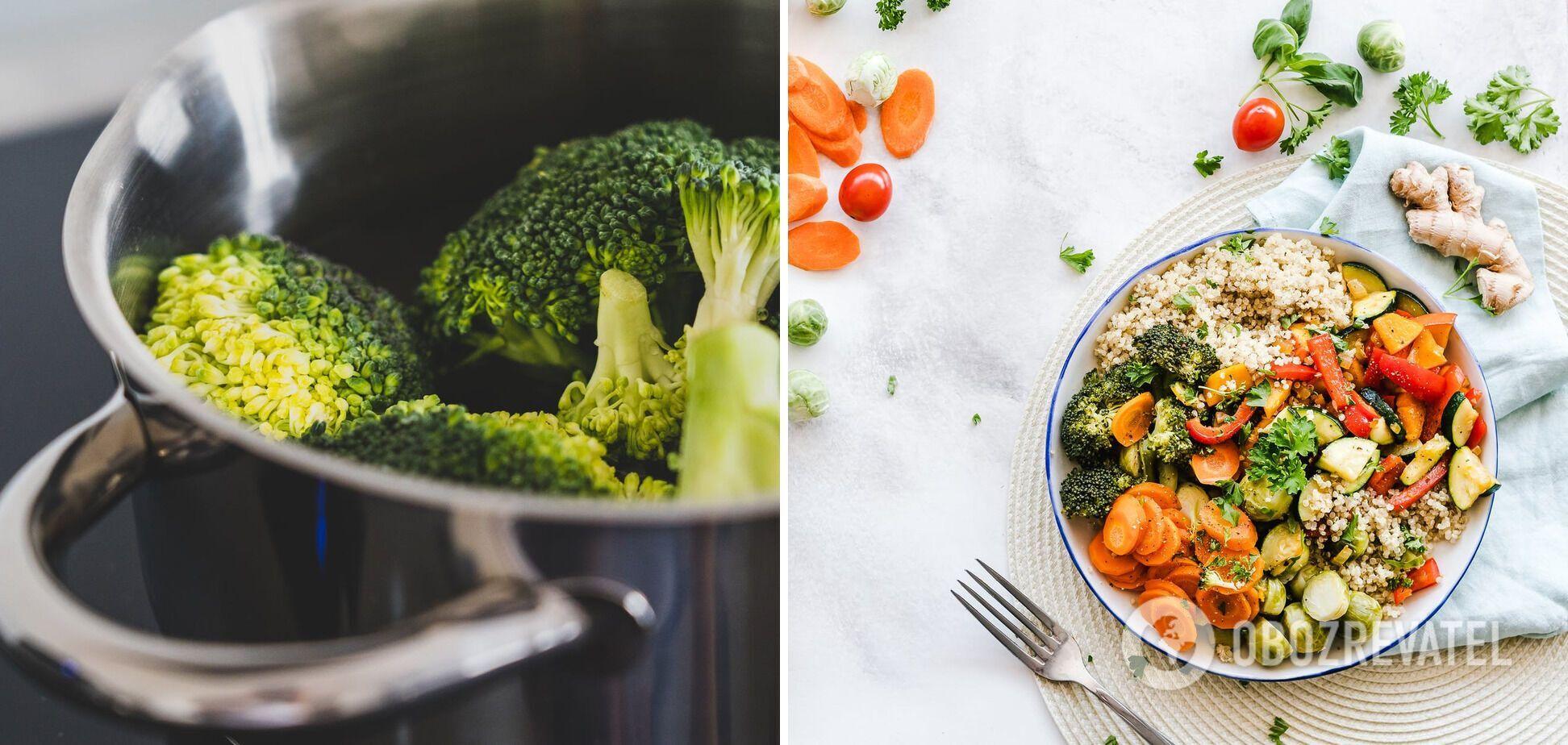 Відварювання заморожених овочів