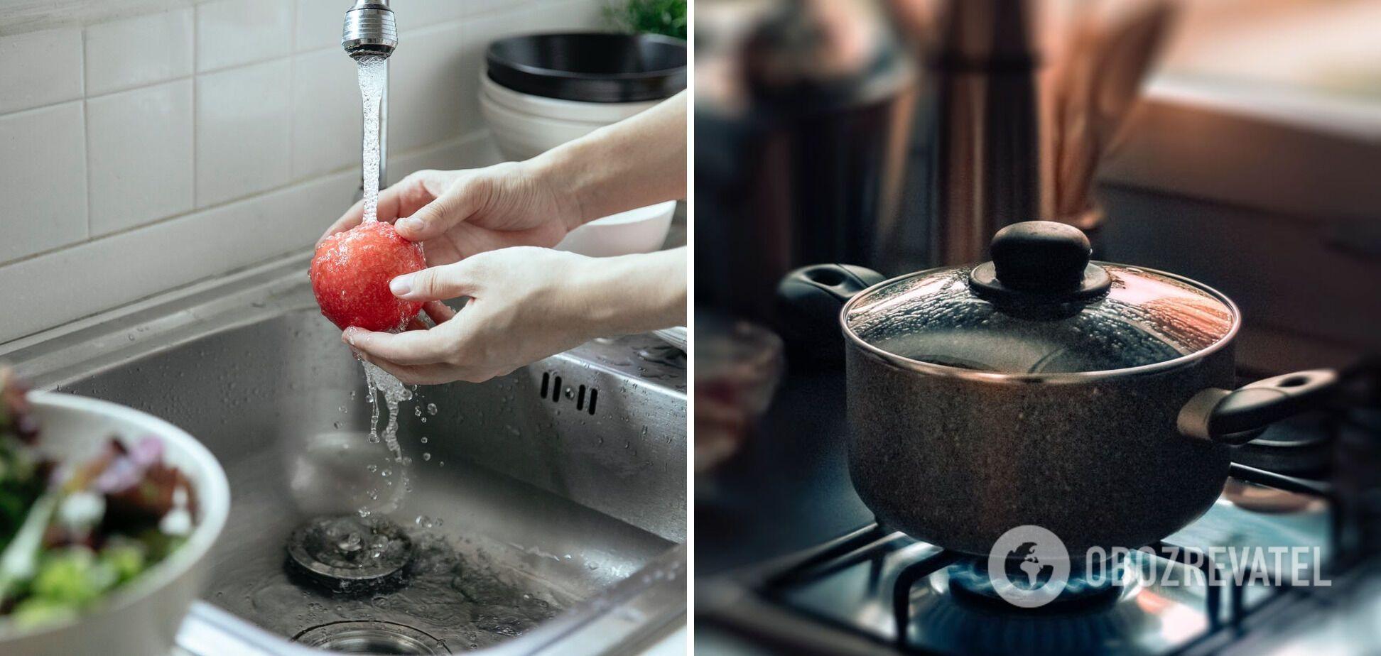 Використання води в приготуванні