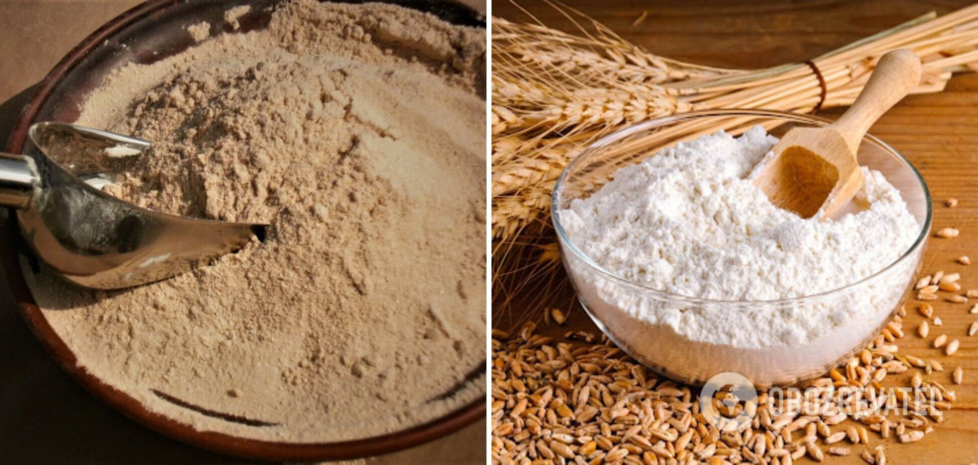 Гречане та пшеничне борошно