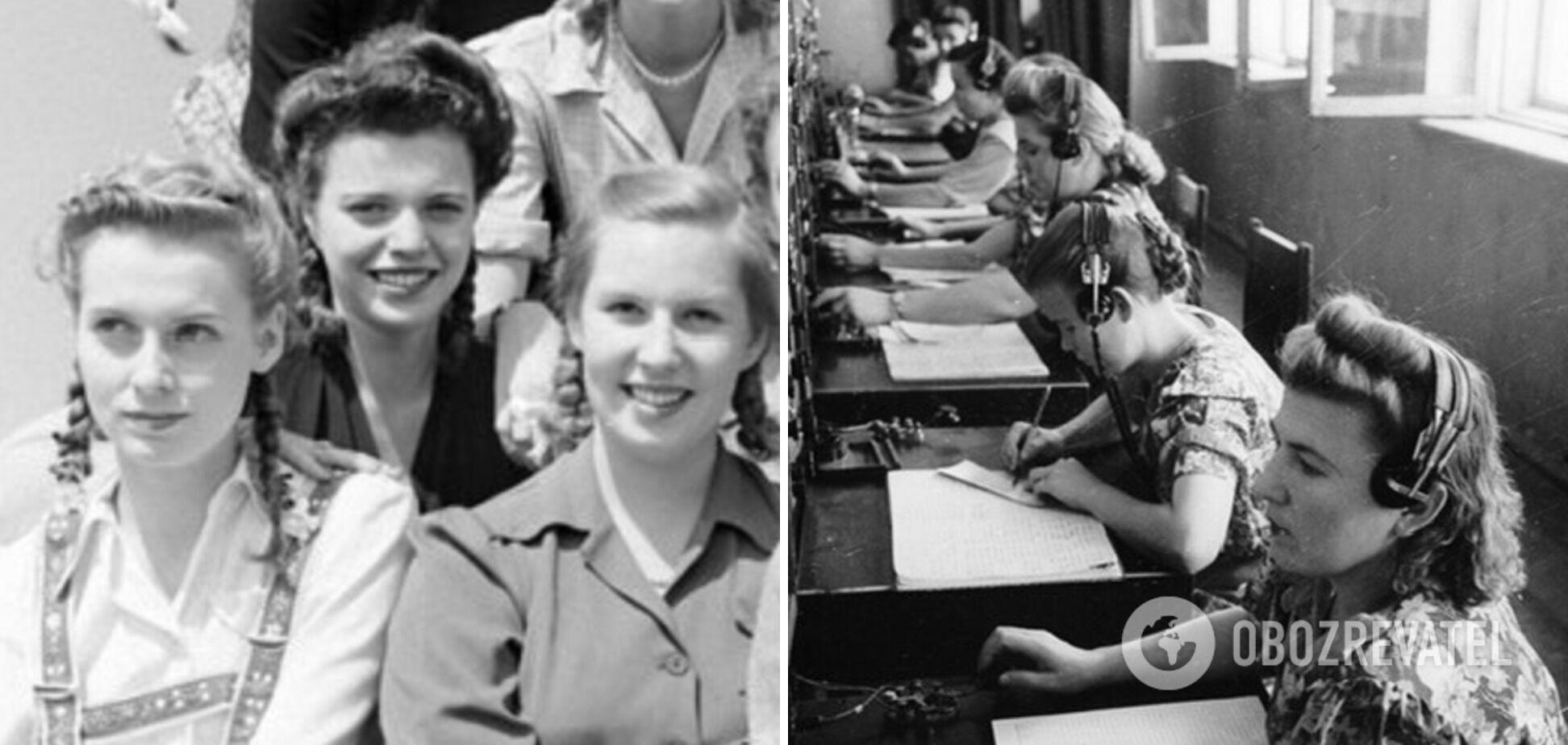 В 40-х была популярна завивка и косички для волос.