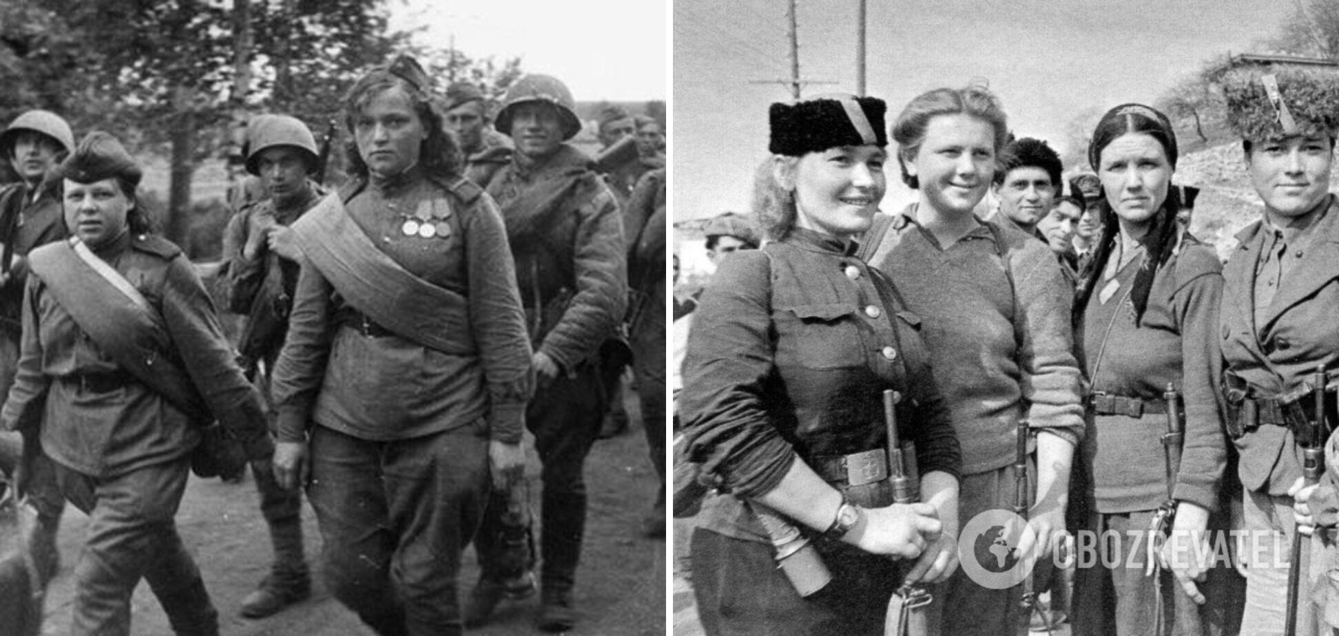 В период войны женщины носили военную форму.