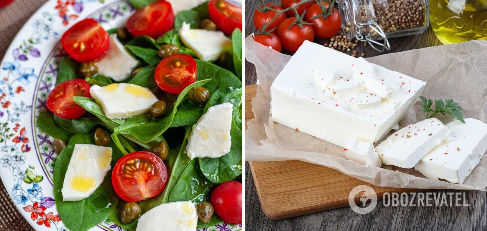 Салат з оливками та бринзою