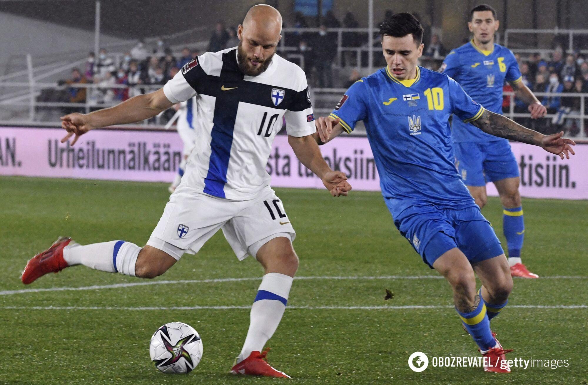 Украина выиграла у Финляндии