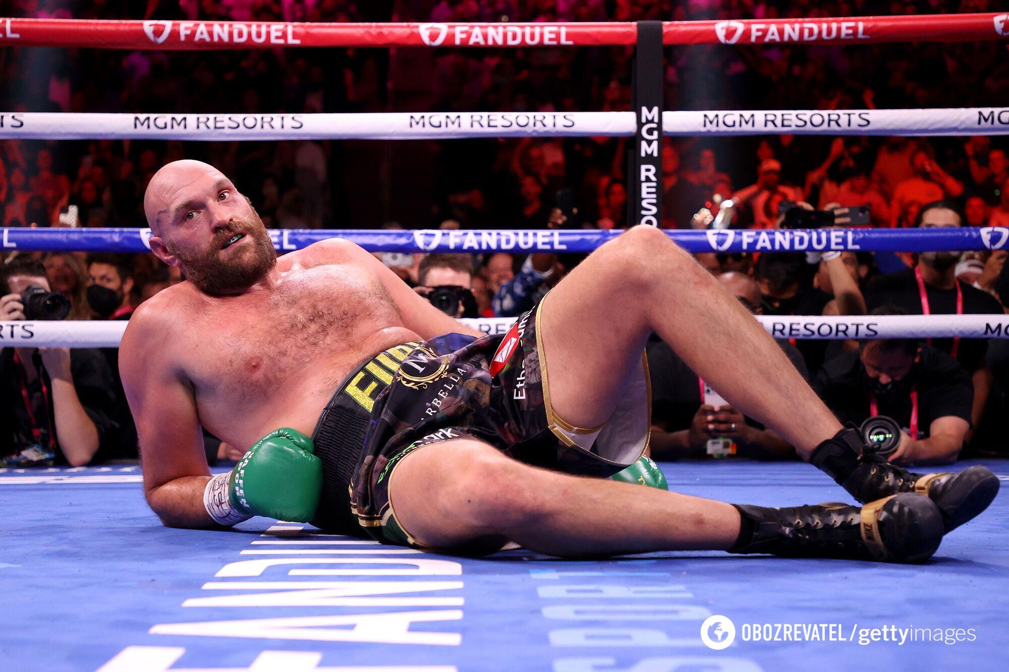 Тайсон Ф'юрі двічі опинявся в нокдауні.