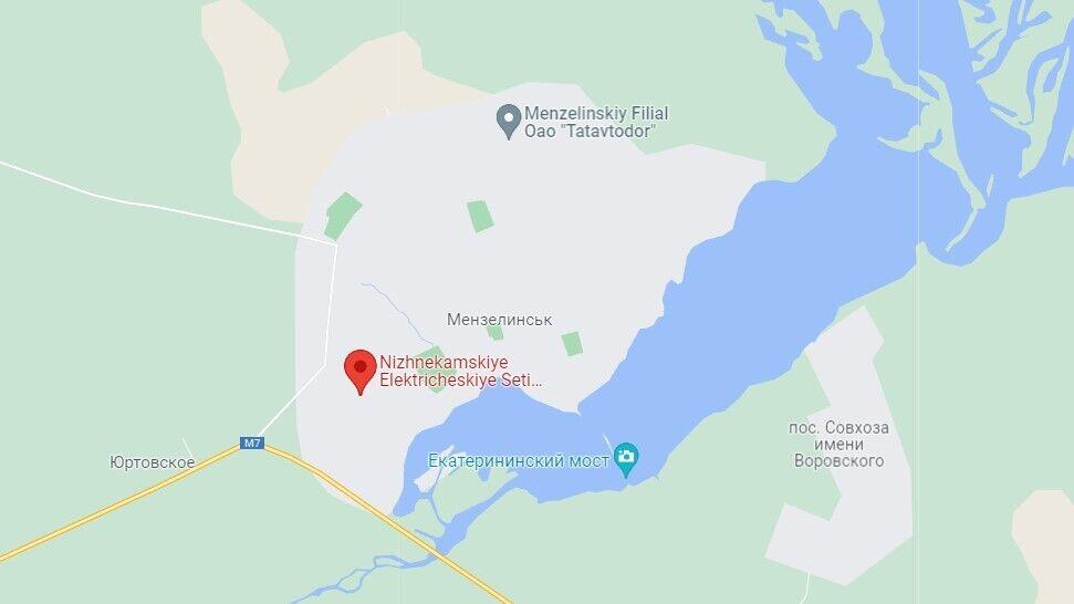 Місце авіакатастрофи в місті Мензелинськ