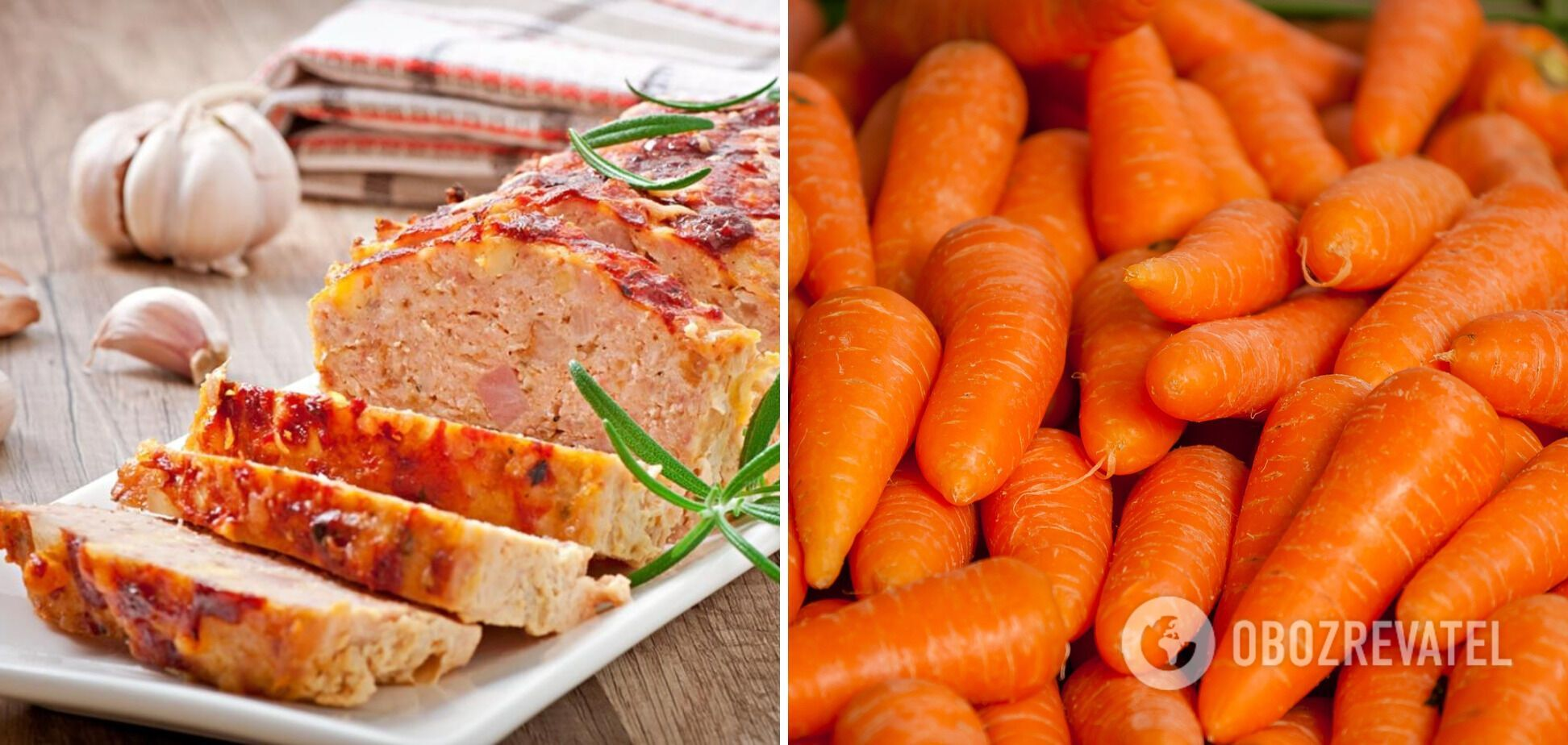 Мясной хлеб с морковью