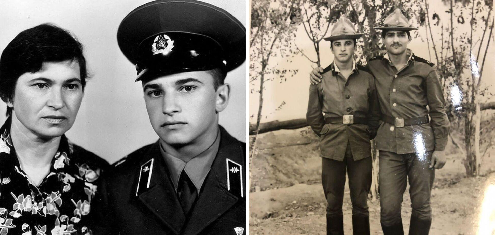 Виктор Павлик с мамой и в армии.