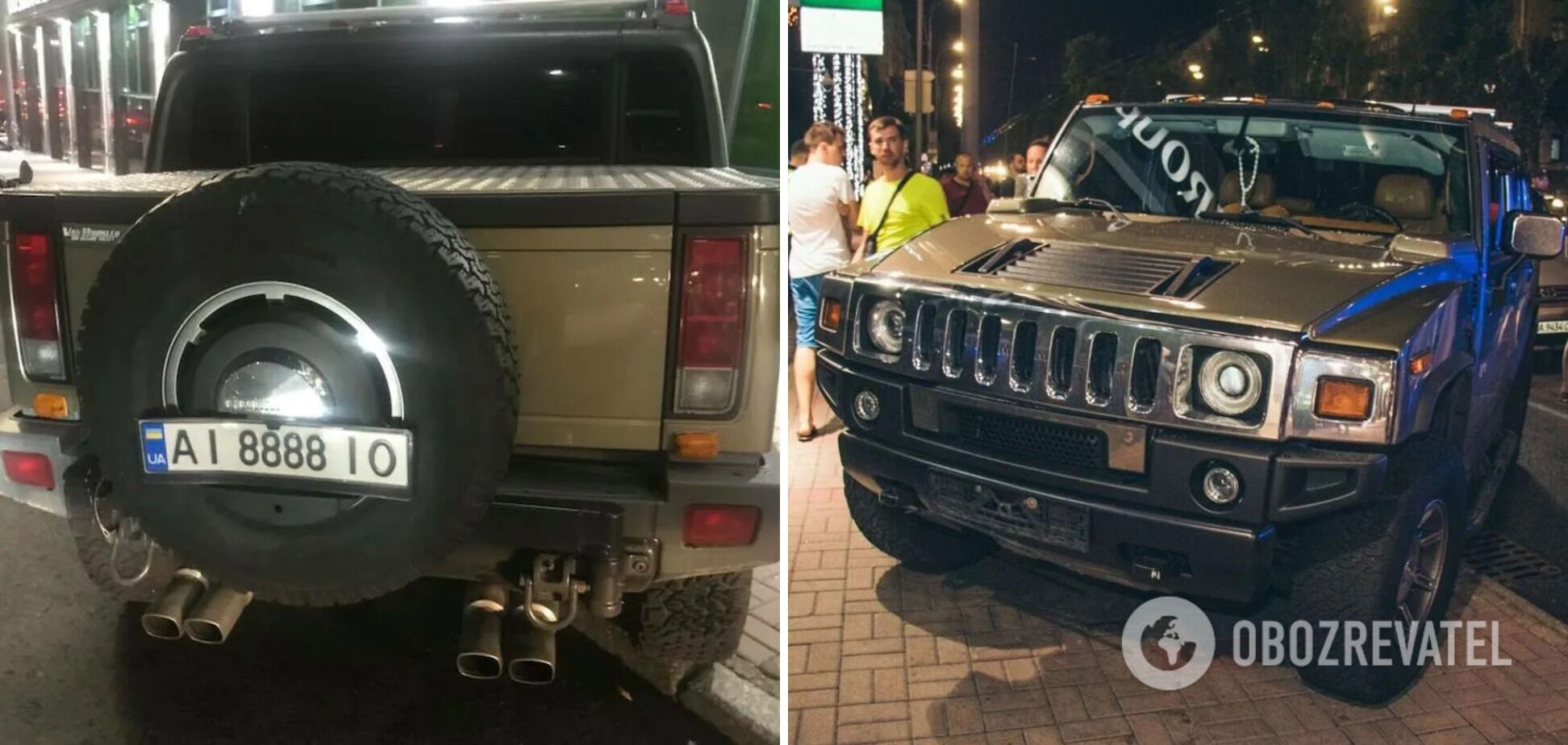 Hummer протянул ребенка по дороге 50 метров