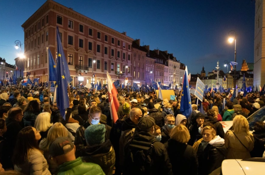 Протест в Польше.