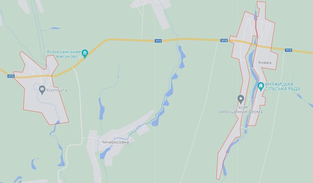 ДТП произошло на трассе Н-16 между с. Княжа и Богачовка