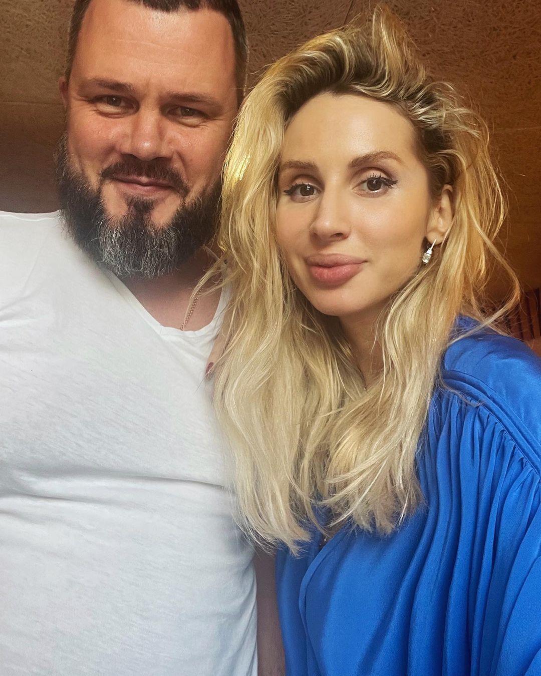 Вадим Лисица с певицей Светланой Лободой.