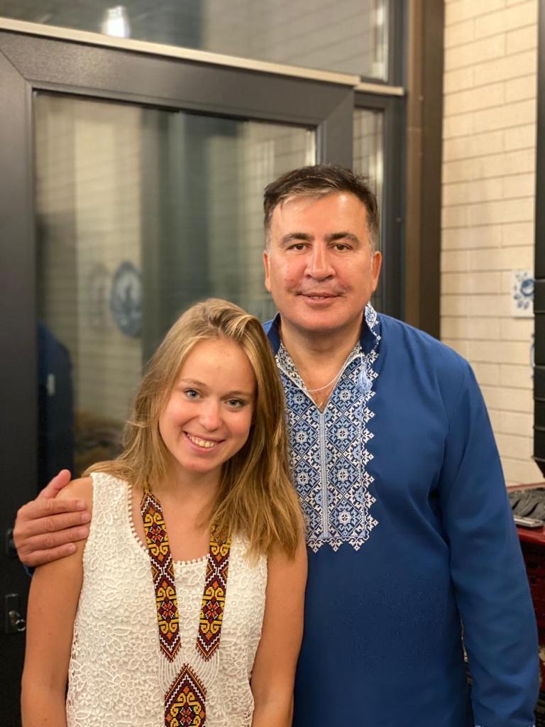Елизавета Ясько и Михаил Саакашвили.