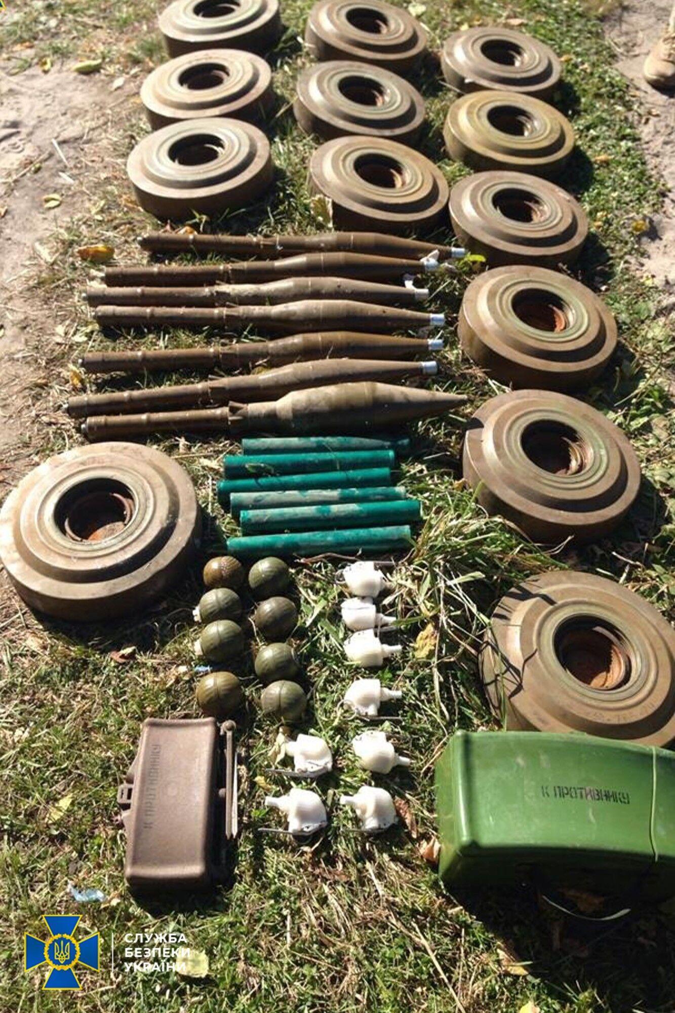 Найденные боеприпасы.