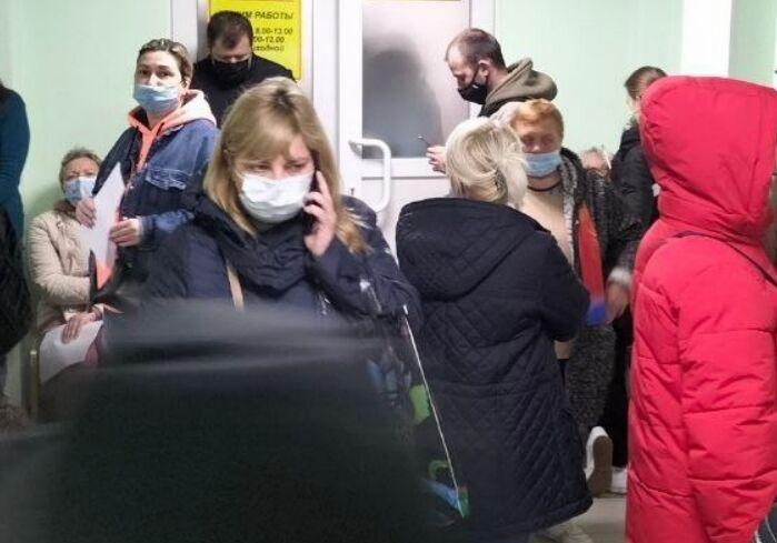Очереди в харьковской поликлинике.