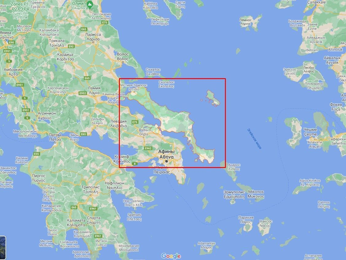 Остров Эвбея.