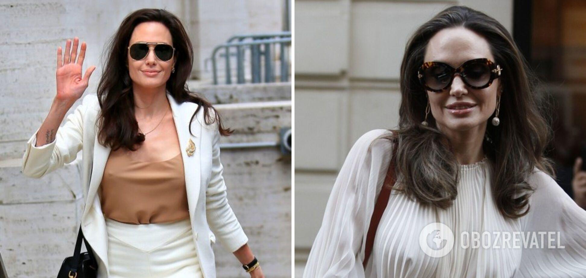 Анджелина Джоли часто надевает одежду без белья.