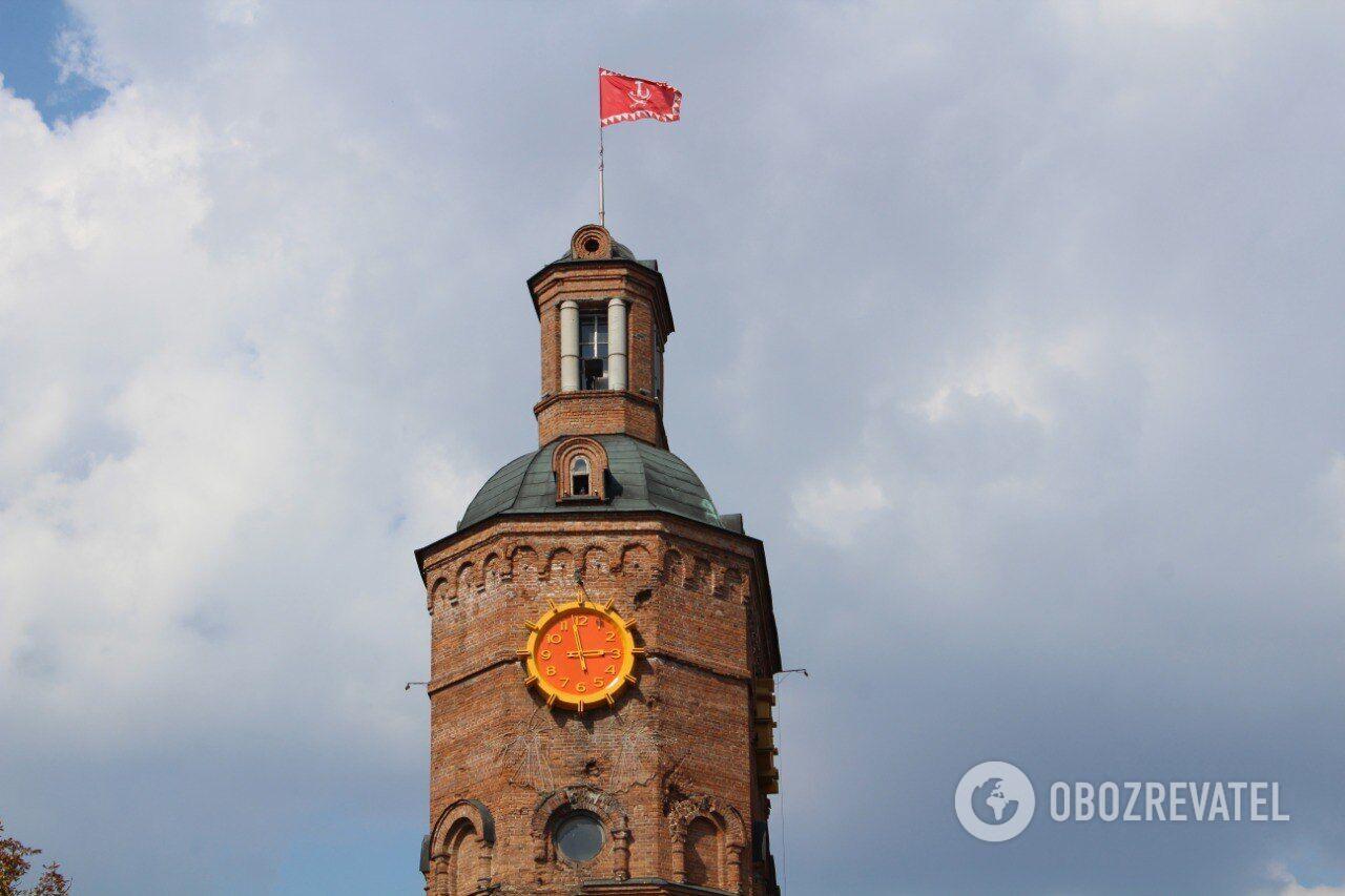 Водонапорная башня в Виннице - популярная местная достопримечательность.