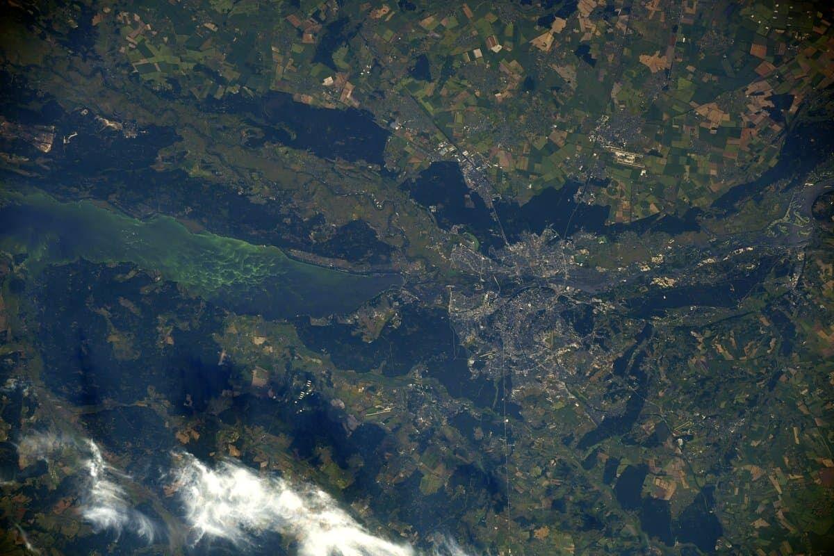 Фото Киева сделаны на международной орбитальной станции.