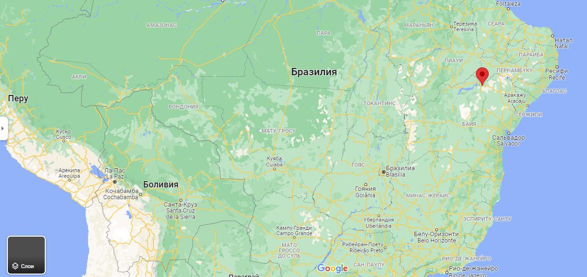 Город Петролина на карте
