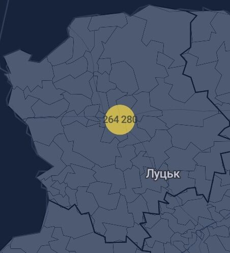 Количество вакцин в Волынской области