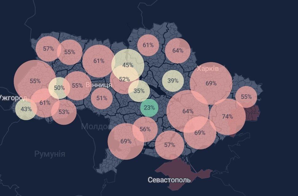 В большинстве регионов уже не хватает мест для ковидных больных