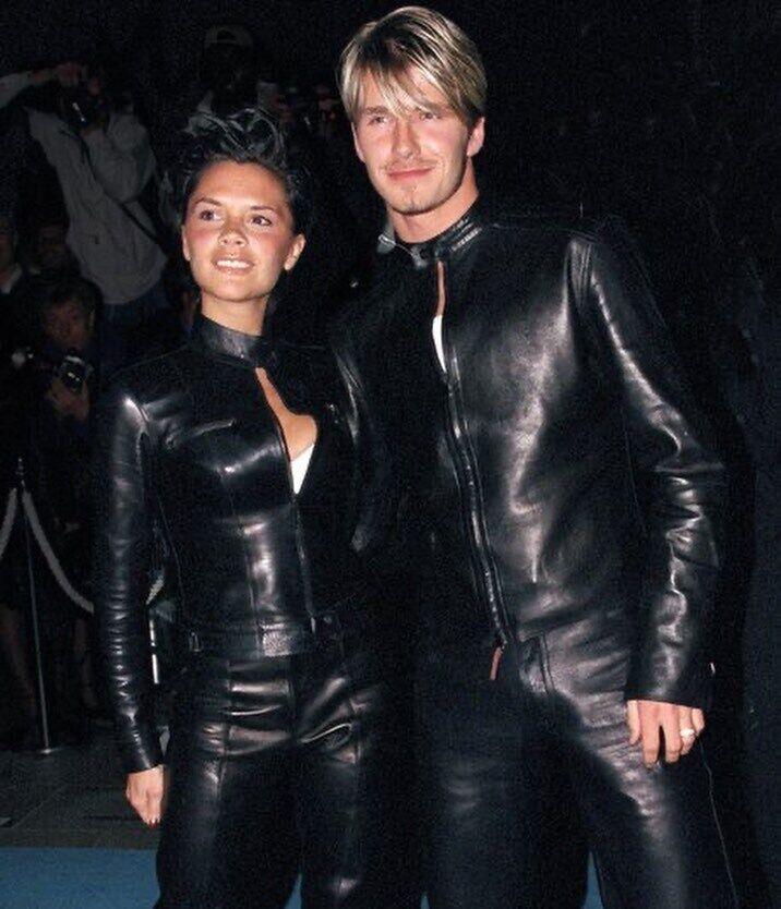 Дэвид и Виктория в 90-е.