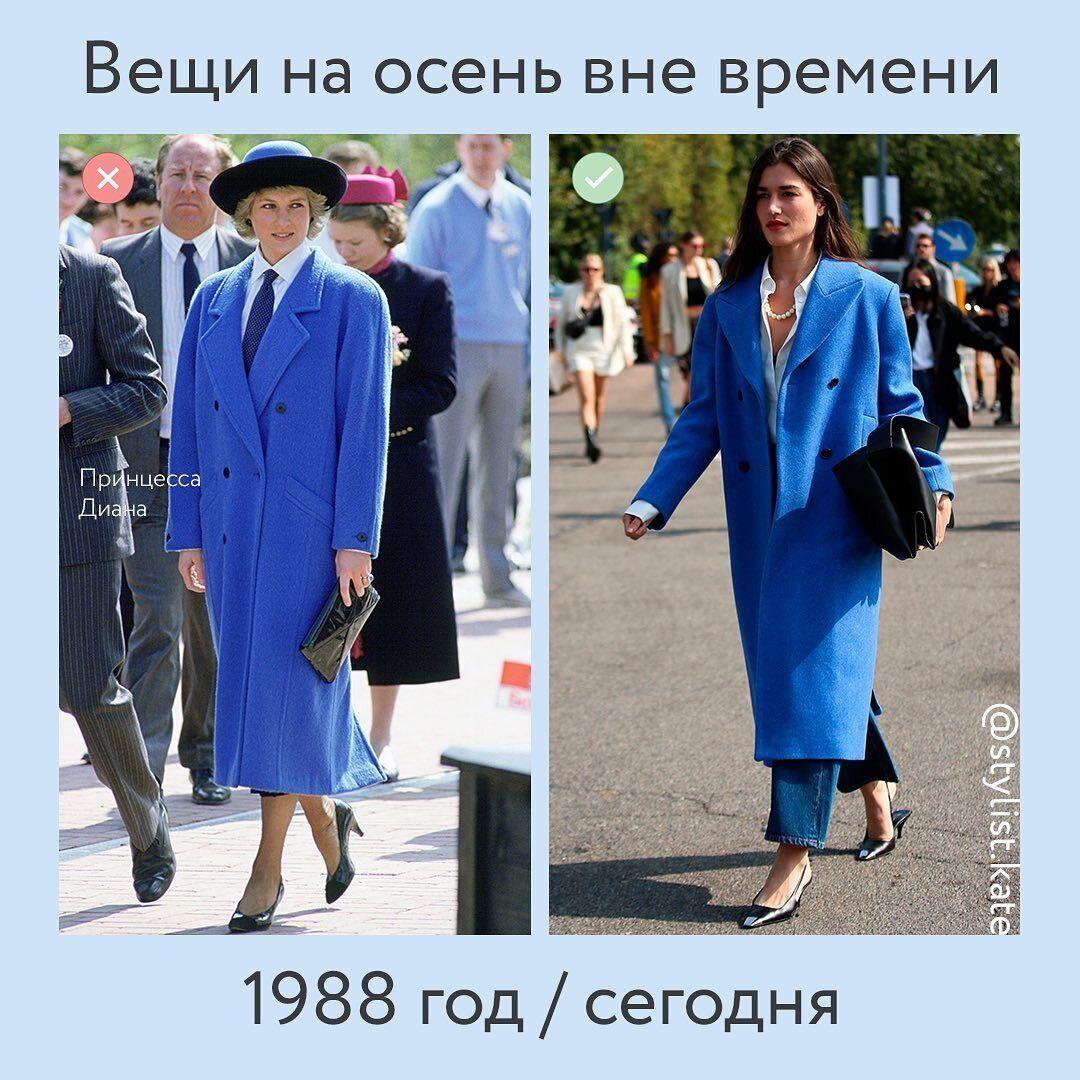 Классическое синее пальто.
