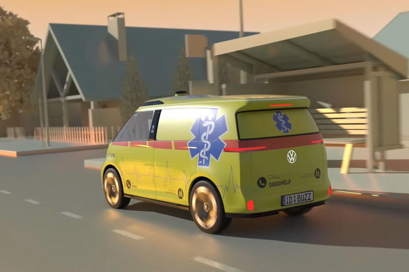 Версия скорой помощи на базе электромобиля ID.Buzz