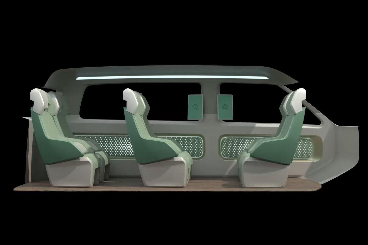 Обивка сидений будут изготовлена из приятного на ощупь синтетического материала, который легко моется