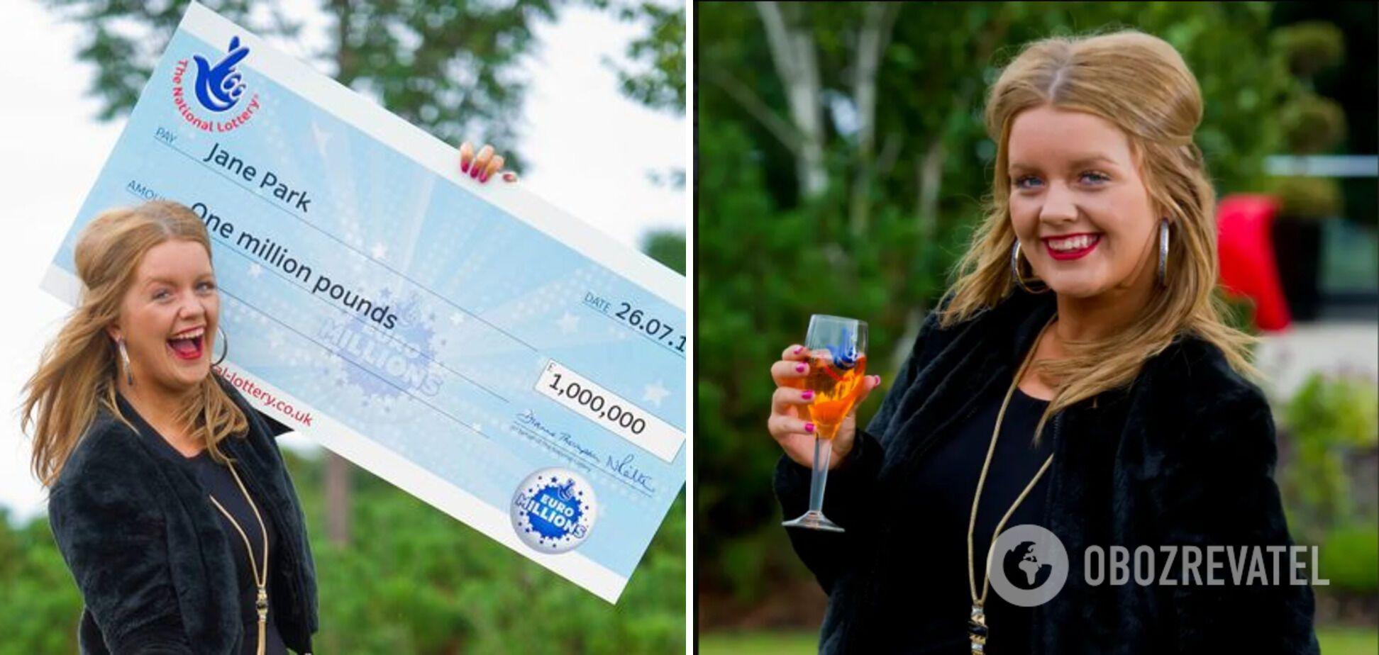Джейн Парк в 2013 году выиграла миллион фунтов