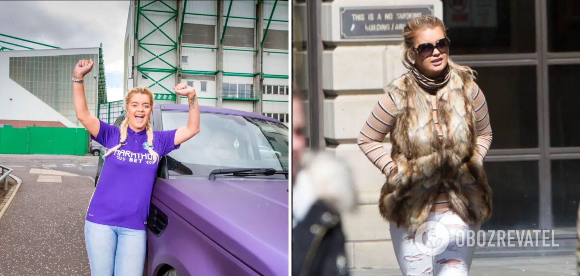 Джейн купила себе фиолетовый Range Rover в 2015 году