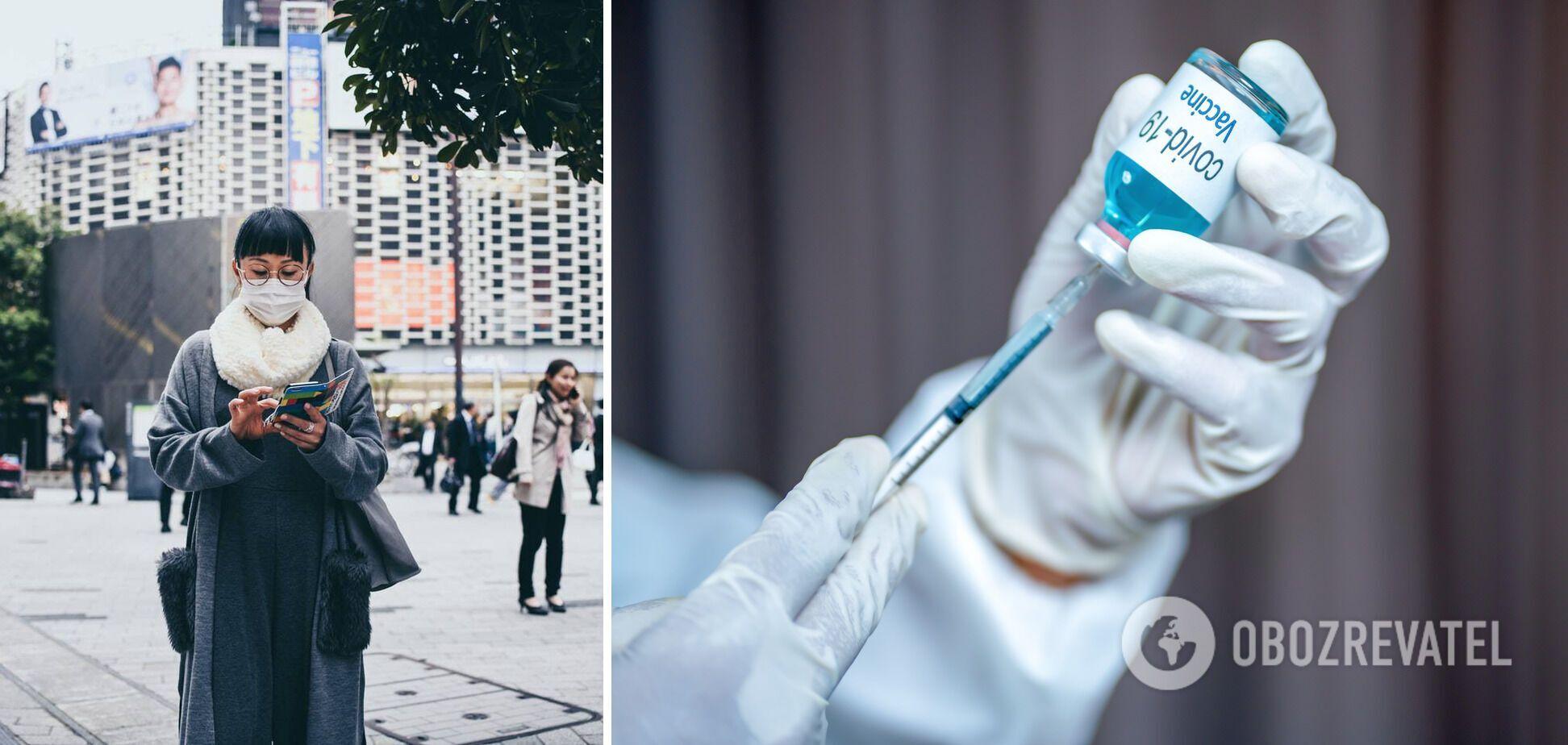 Японцам будут делать бустерную прививку против COVID-19