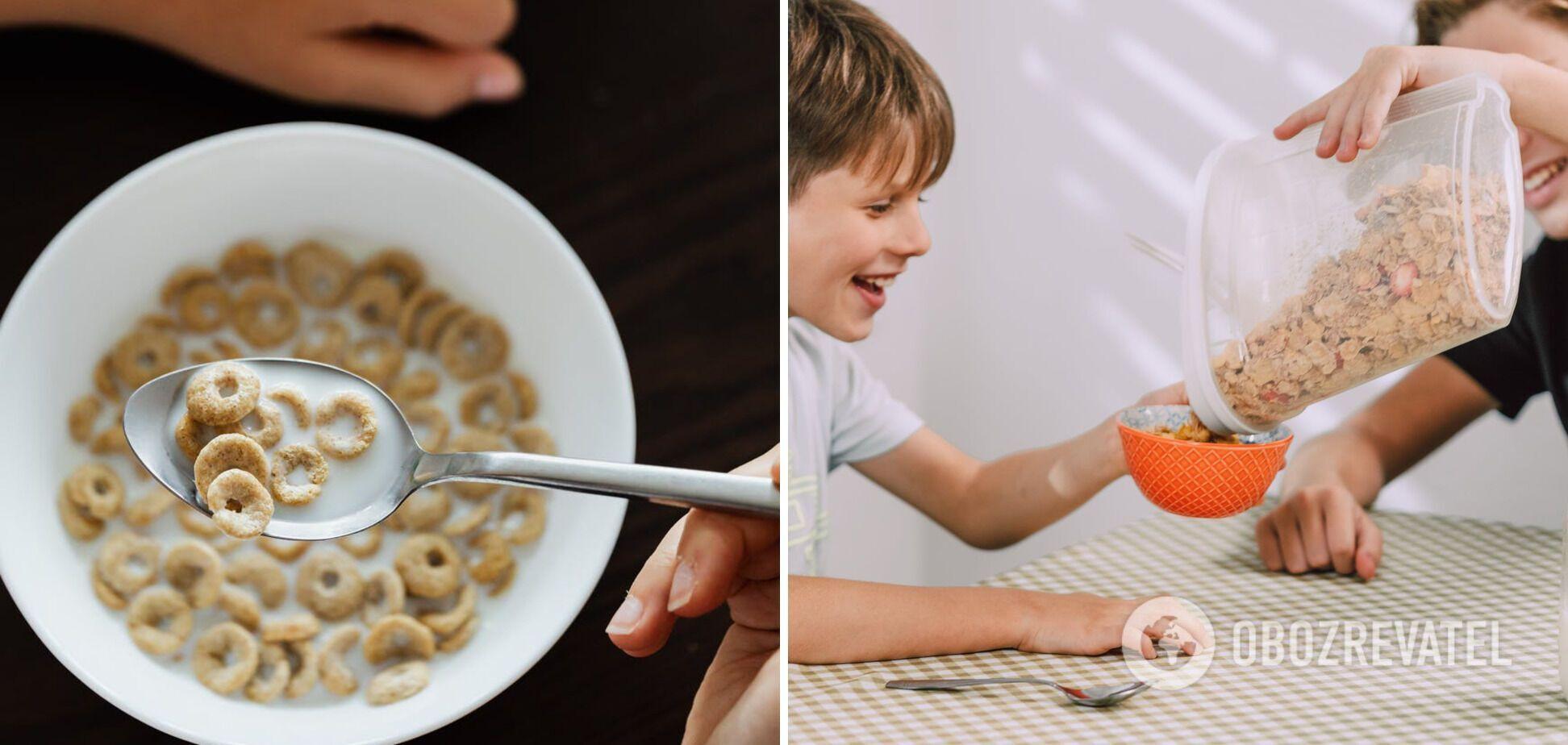 Вживання шкідливих хрустких сніданків