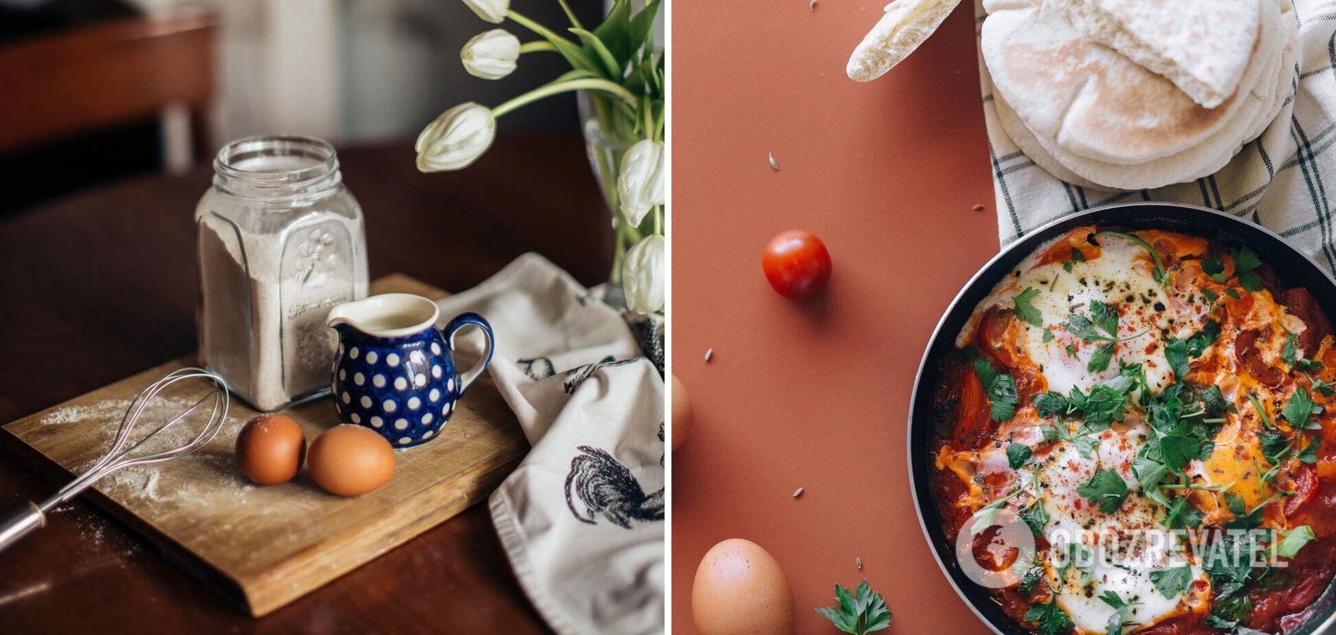 Приготування омлету з беконом
