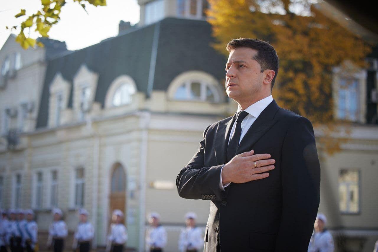 Зеленський на Михайлівській площі.