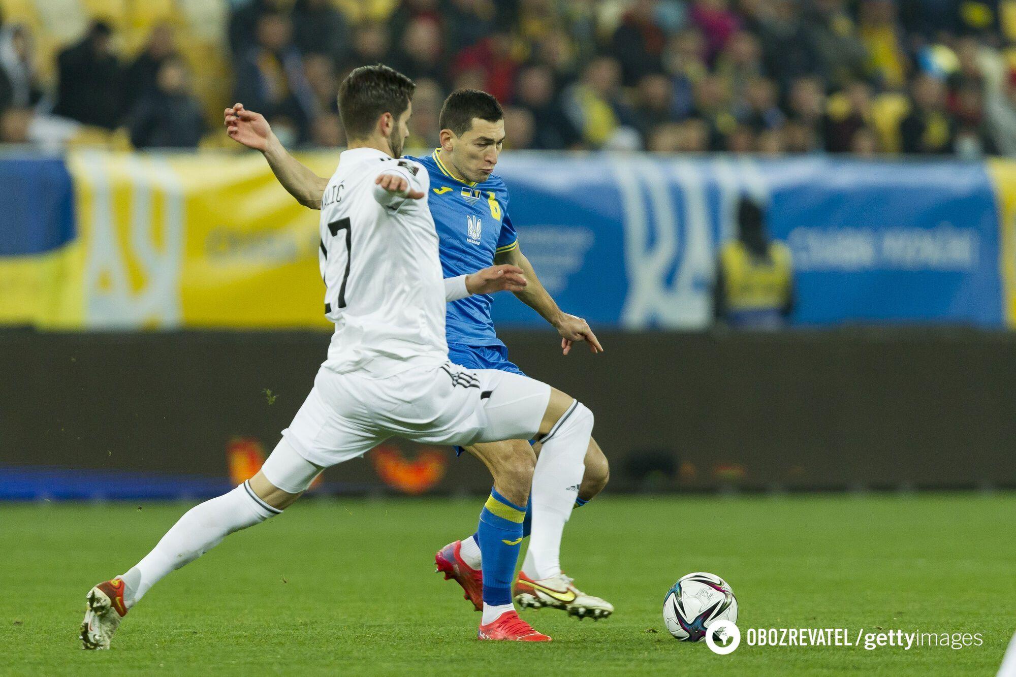 Тарас Степаненко в матче Украина – Босния и Герцеговина