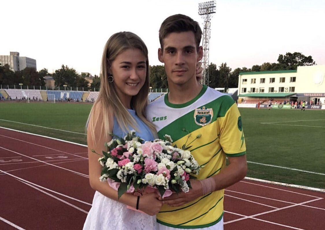 Виталий Бойко со своей девушкой