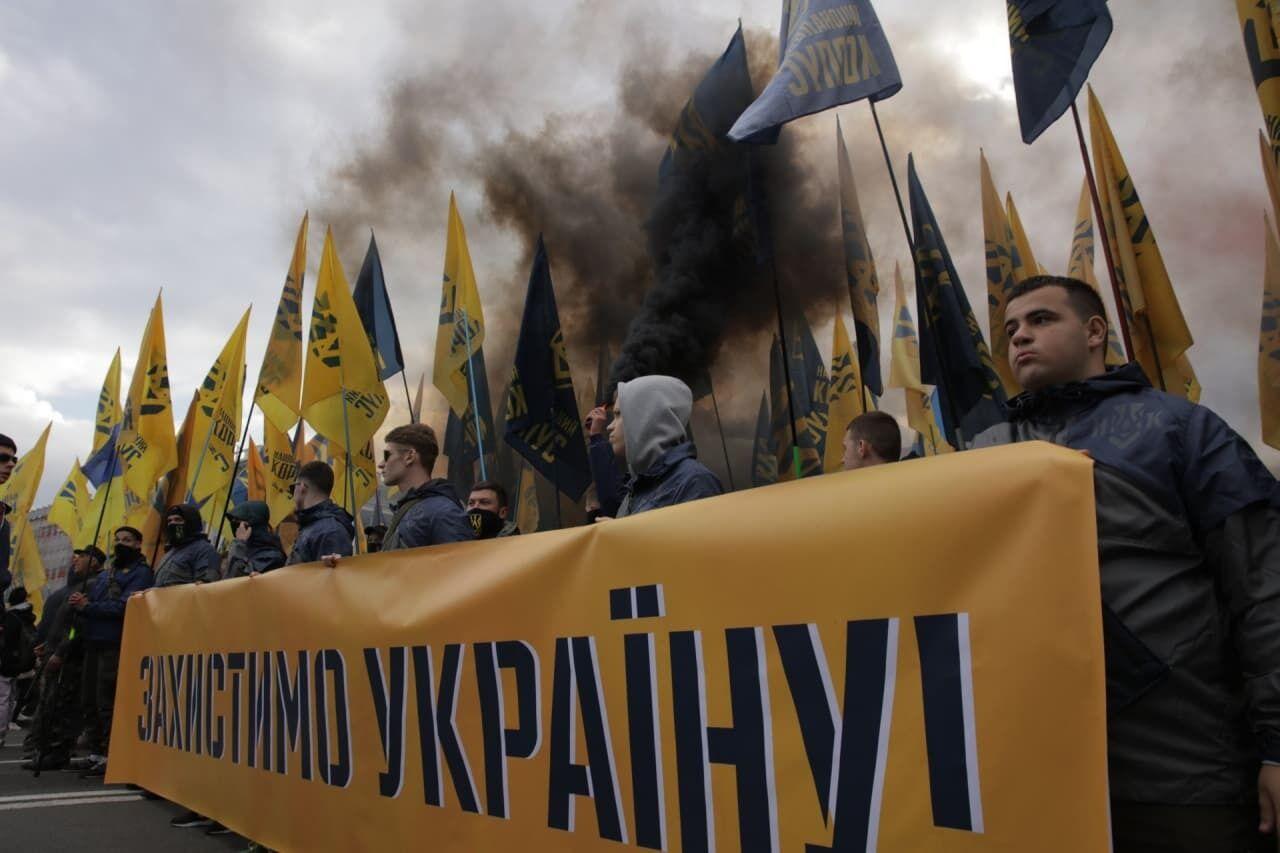Националисты провели масштабный Марш Нации в столице