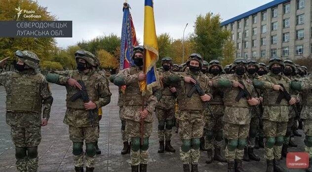 На параде прозвучал гимн Украины